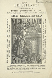 Advert for Nickel Silver Black Lead